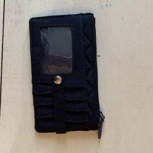 Vera Bradley black RFID Ultimate Card Case